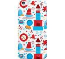 Sea and pirate icons iPhone Case/Skin