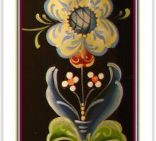Long Tall Nordic Flower Power Folk Art Designs by Kirsten Sticker