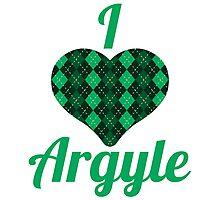 I Love Argyle Photographic Print