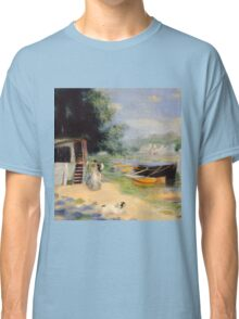 Auguste Renoir - View of Bougival 1873 Woman Portrait Classic T-Shirt