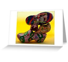 everybody is talking about...klompjes or Dutch super cool shoes Greeting Card