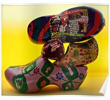 everybody is talking about...klompjes or Dutch super cool shoes Poster