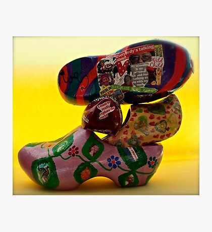 everybody is talking about...klompjes or Dutch super cool shoes Photographic Print