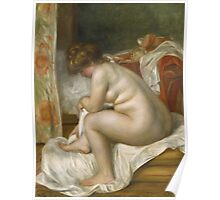 Auguste Renoir - Woman After Bath 1896 Woman Portrait Poster