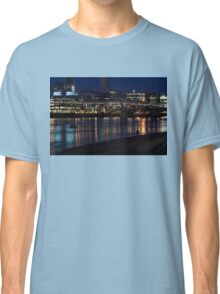 Strolling Down the Thames Riverbank Hand in Hand - Magical Night in London Classic T-Shirt