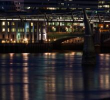 Strolling Down the Thames Riverbank Hand in Hand - Magical Night in London Sticker