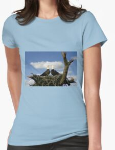 BALD EAGLE COURTSHIP Womens Fitted T-Shirt