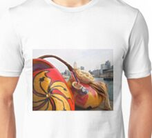 a traditional Dutch shoe on not such a traditional trip to Hong Kong Unisex T-Shirt