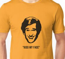 "Alan Partridge ""Kiss my Face"" Quote Unisex T-Shirt"