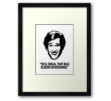 """Alan Partridge """"Classic Intercourse"""" Quote Framed Print"""
