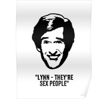 """Alan Partridge """"Sex People"""" Quote Poster"""