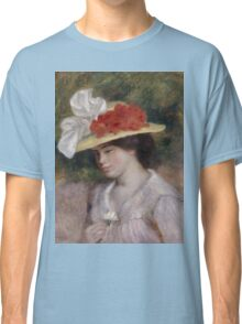 Auguste Renoir - Woman in a Flowered Hat 1889 Woman Portrait Classic T-Shirt