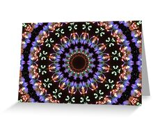 Fireworks kaleidoscope mandala 1 Greeting Card