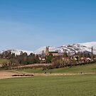 Clackmannan Town and The Ochil Hills by Jeremy Lavender Photography