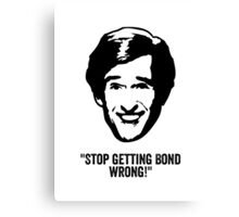 "Alan Partridge ""Bond"" Quote Canvas Print"