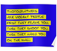 dear photographers! Poster