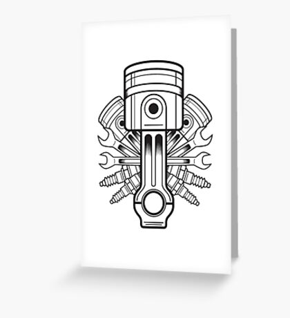 Piston lable Greeting Card