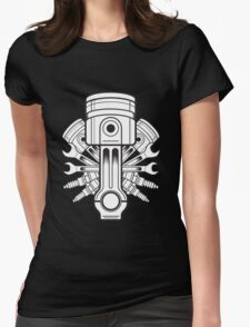 Piston lable Womens Fitted T-Shirt