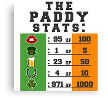 Paddy stats Canvas Print