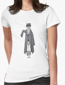 half man Womens Fitted T-Shirt