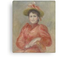 Auguste Renoir - Young Woman in Red Dress  1892 Woman Portrait Canvas Print