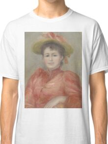Auguste Renoir - Young Woman in Red Dress  1892 Woman Portrait Classic T-Shirt
