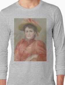 Auguste Renoir - Young Woman in Red Dress  1892 Woman Portrait Long Sleeve T-Shirt