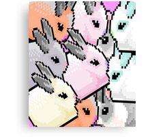 Cute Pixel Bunnies Canvas Print