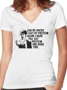 Vegan Protein Women's Fitted V-Neck T-Shirt