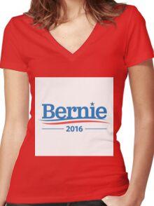 Bernie 2016 Women's Fitted V-Neck T-Shirt