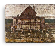 Egon Schiele - House with Shingle Roof Old House II 1915 Canvas Print