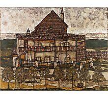 Egon Schiele - House with Shingle Roof Old House II 1915 Photographic Print