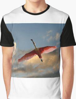 SPOONBILL IN FLIGHT Graphic T-Shirt