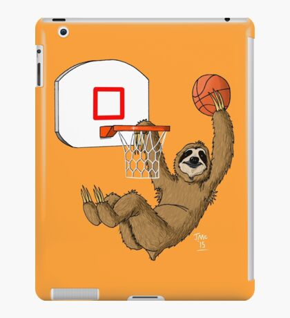Basketballing sloth iPad Case/Skin