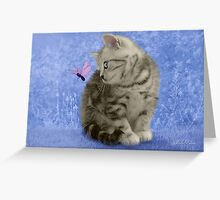 Amy & the Butterfly Greeting Card