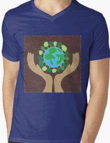 protect the planet Mens V-Neck T-Shirt