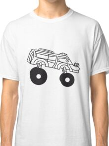 large cool monster truck comic eyes face cartoon cars turbo Classic T-Shirt