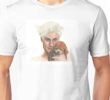 Lucky Blue Smith with a dog Unisex T-Shirt