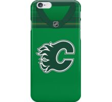 Calgary Flames St. Patrick's Day Jersey iPhone Case/Skin