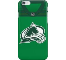 Colorado Avalanche St. Patrick's Day Jersey iPhone Case/Skin