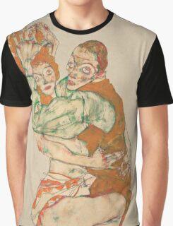 Egon Schiele - Lovemaking 1915 Woman Portrait Graphic T-Shirt