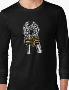 Bound & Golden Skeleton Hands Long Sleeve T-Shirt