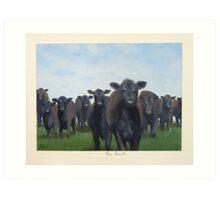 9 black cows: the Court Art Print