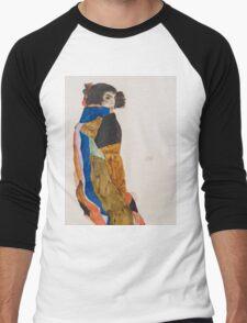 Egon Schiele - Moa 1911 Woman Portrait Men's Baseball ¾ T-Shirt