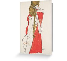 Egon Schiele - Mother and Daughter 1913 Woman Portrait Greeting Card