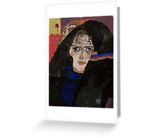 Egon Schiele - Mourning Woman 1912 Woman Portrait Greeting Card