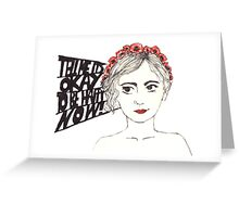 Paramore Tell Me It's Okay Greeting Card