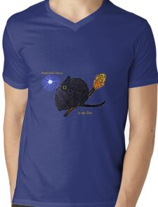 Broomstick Mouse Mens V-Neck T-Shirt