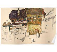 Egon Schiele - Old Houses in Krumau, 1914 1914 Poster