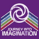 Journey Into Imagination Distressed Logo in Vintage Retro Style by retrocot